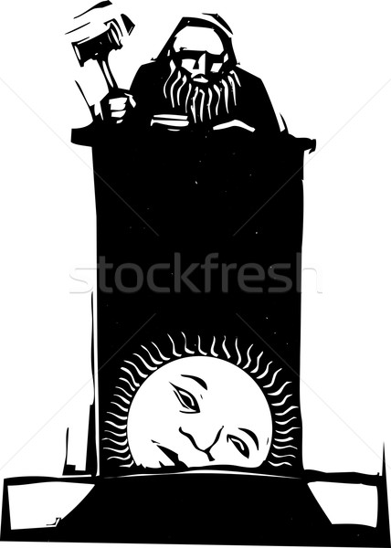 Judge and Rising Sun Stock photo © xochicalco
