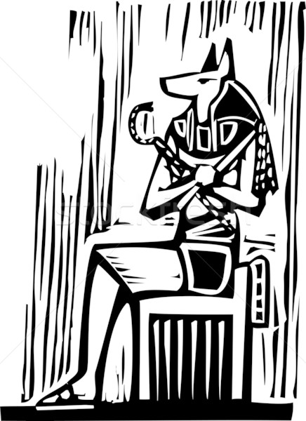 Stock photo: Egyptian Sitting Anubis