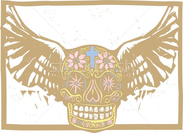 色 メキシコ料理 頭蓋骨 スタイル 画像 日 ストックフォト © xochicalco