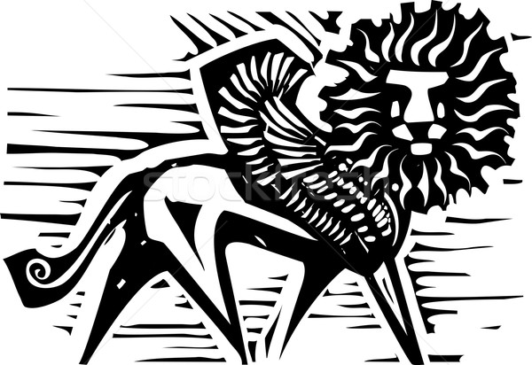 Winged Lion Stock photo © xochicalco