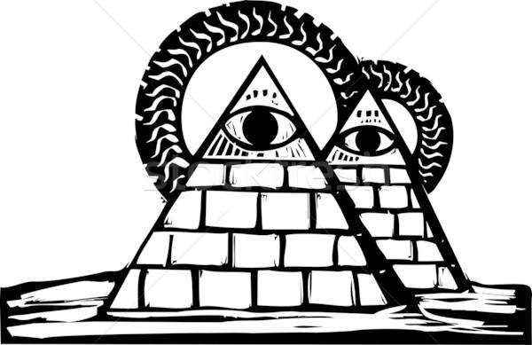 Masonic Pyramids Stock photo © xochicalco