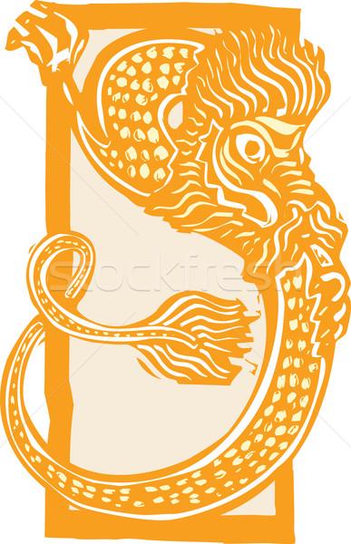 Китайский дракон цвета стиль изображение Новый год Сток-фото © xochicalco
