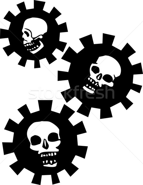 Attrezzi teschi umani cranio halo meccanica Foto d'archivio © xochicalco