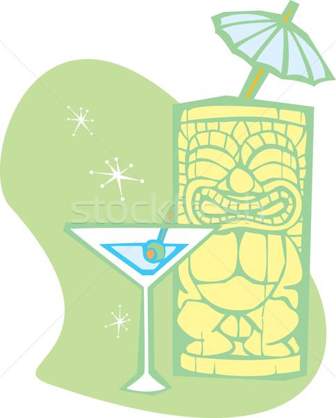 Tiki Umbrella A Stock photo © xochicalco