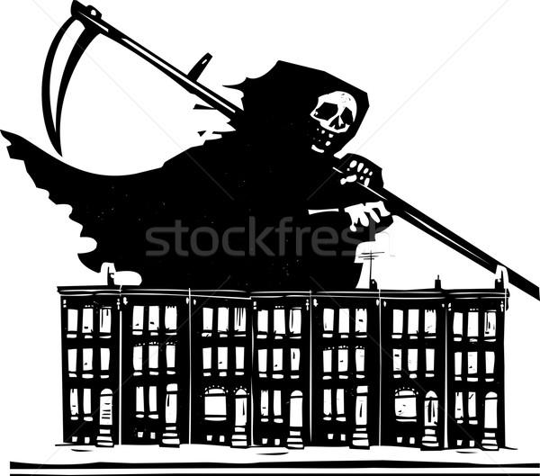 городского стиль изображение смерти дома Сток-фото © xochicalco