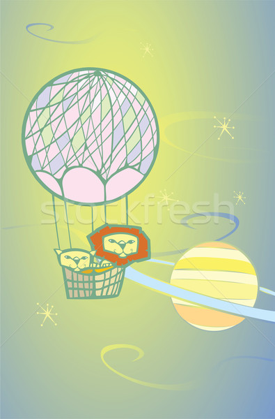 Balloon Lions in Space Stock photo © xochicalco