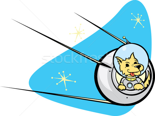 Sputnik Satellite and dog. Stock photo © xochicalco