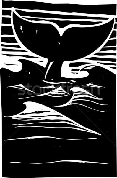 Balena espressionista stile racconto sopra Foto d'archivio © xochicalco