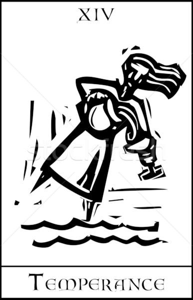 タロット カード 表現派の スタイル 画像 ストックフォト © xochicalco