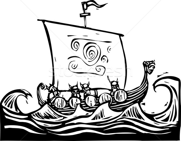 Viking LongShip Stock photo © xochicalco