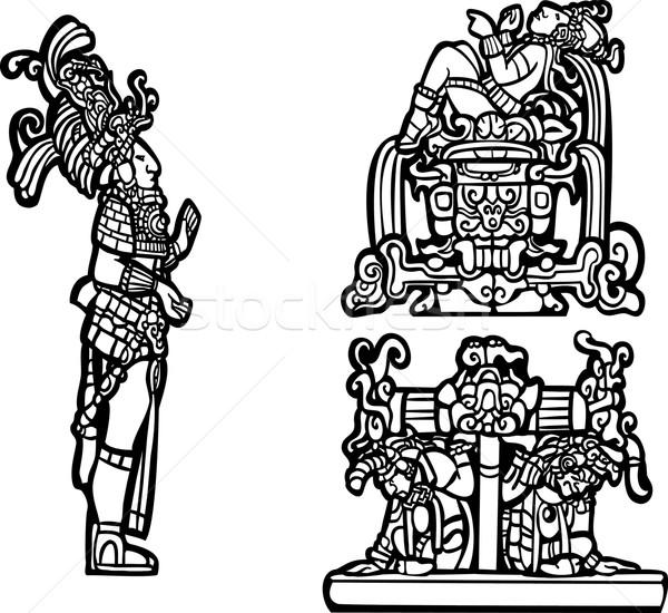 Mayan Group C Stock photo © xochicalco