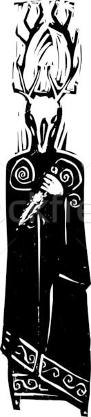 ケルト 異教の 神 鹿 頭 ストックフォト © xochicalco