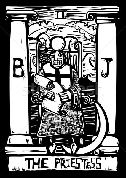 Tarot kart numara üç gelecek Stok fotoğraf © xochicalco
