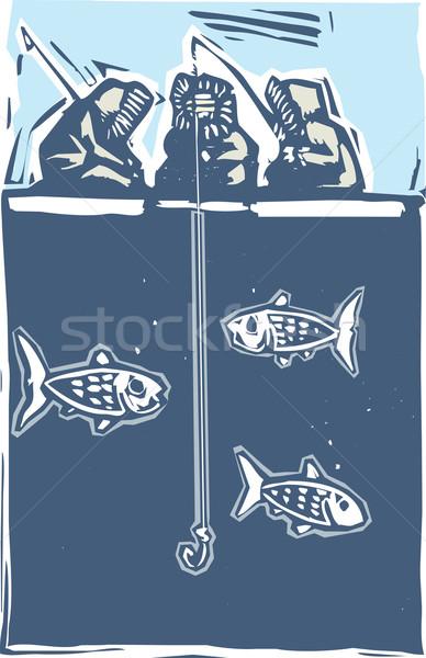 Ice Fishing Inuit Stock photo © xochicalco