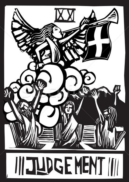 Wyrok tarot ekspresjonista stylu obraz karty Zdjęcia stock © xochicalco