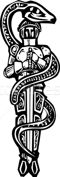 Saint George and Serpent Stock photo © xochicalco
