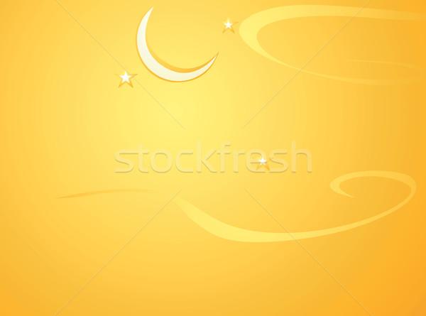 Хэллоуин луна оранжевый Desktop Сток-фото © xochicalco