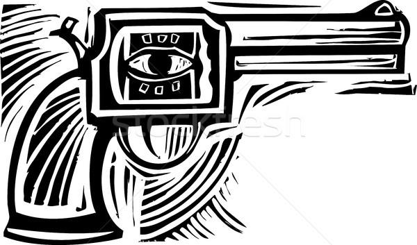 глаза пистолет стиль изображение сторона пуля Сток-фото © xochicalco