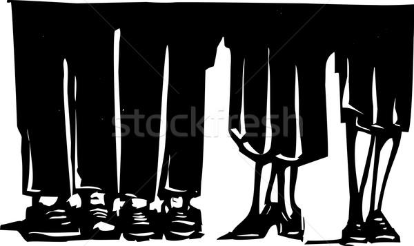 Benen partij stijl expressionistische afbeelding mannen Stockfoto © xochicalco