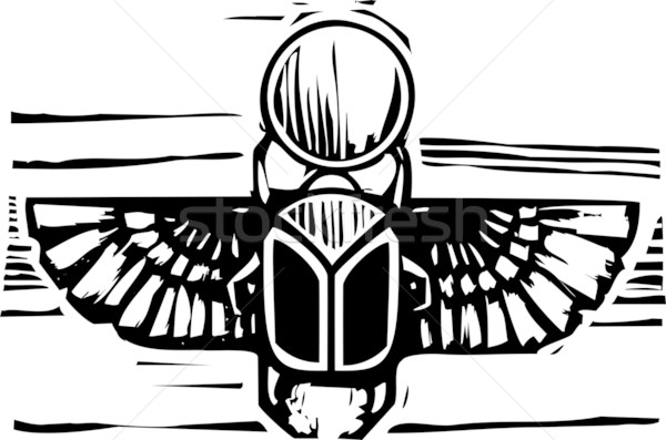 Egyptian Winged Scarab Stock photo © xochicalco