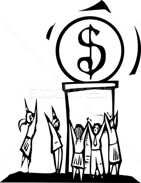 Worshiping Money Stock photo © xochicalco