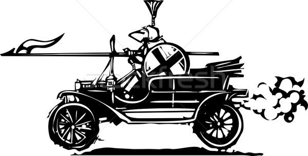 Knight автомобилей стиль экспрессионист изображение Сток-фото © xochicalco