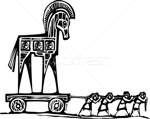 Trojan Horse Dragged Stock photo © xochicalco