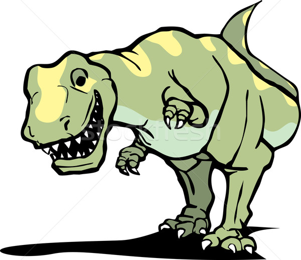Glimlach dinosaurus jacht buit tanden schalen Stockfoto © xochicalco