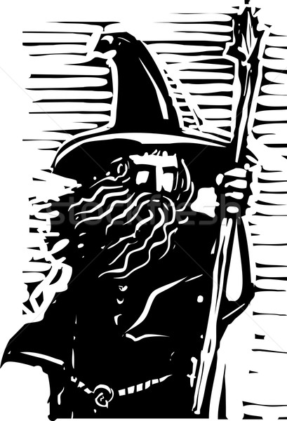 Stock photo: Wizard Bust