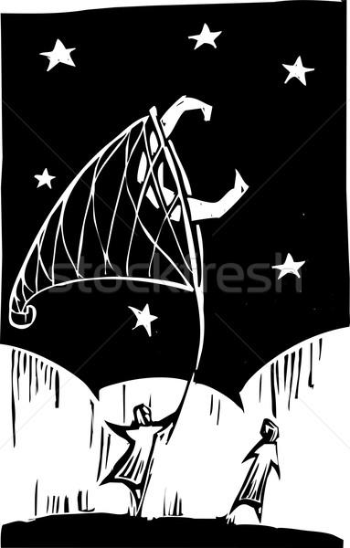 Netting the Moon Stock photo © xochicalco