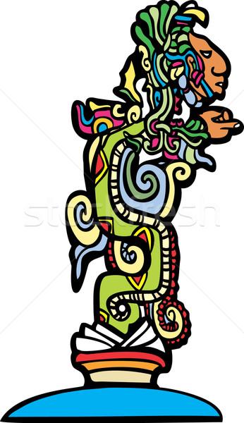Wizji wąż tradycyjny świątyni historii Zdjęcia stock © xochicalco