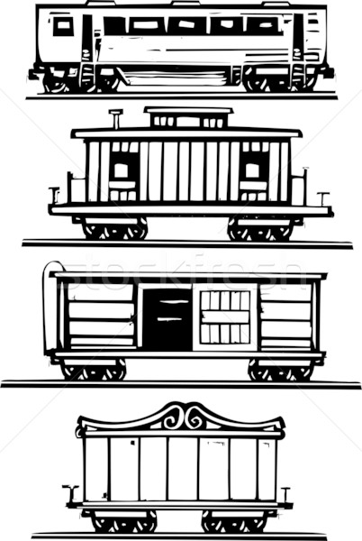 Stock photo: Train Car Collection