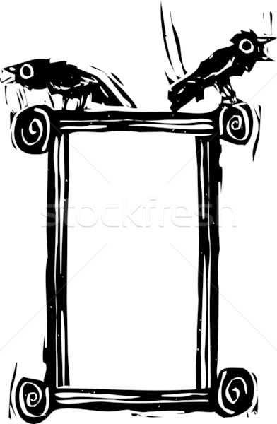Corvo caixa expressionista estilo sessão topo Foto stock © xochicalco
