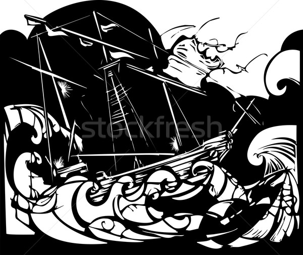 Storm Ship Stock photo © xochicalco