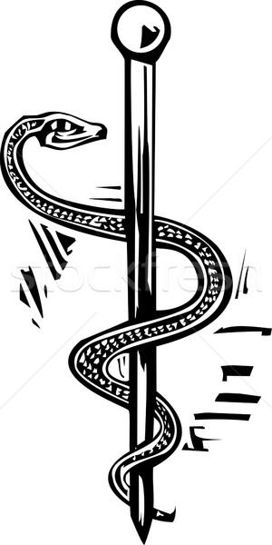 Rod of Aesculapius Stock photo © xochicalco