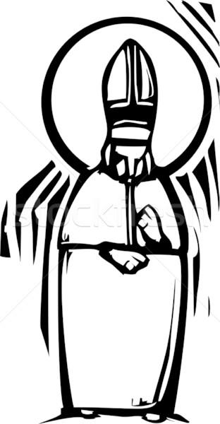 Pápa stílus kép katolikus halo húsvét Stock fotó © xochicalco