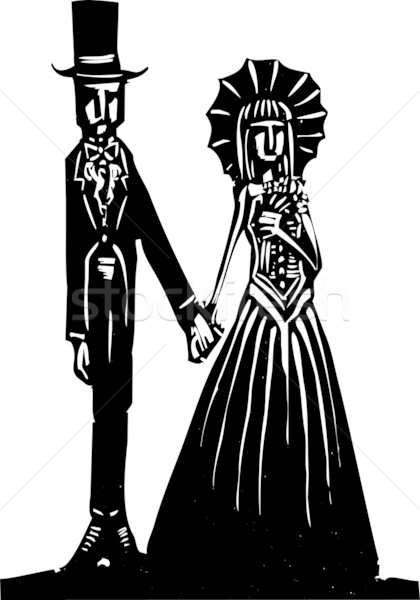 Goth mariage simple gothique couple Photo stock © xochicalco