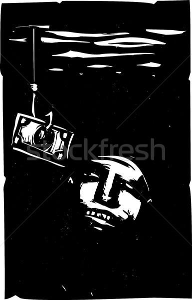 Csalétek pénz stílus dollár számla hal Stock fotó © xochicalco