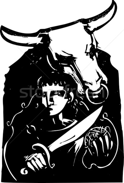 Theseus and the Minotaur Stock photo © xochicalco