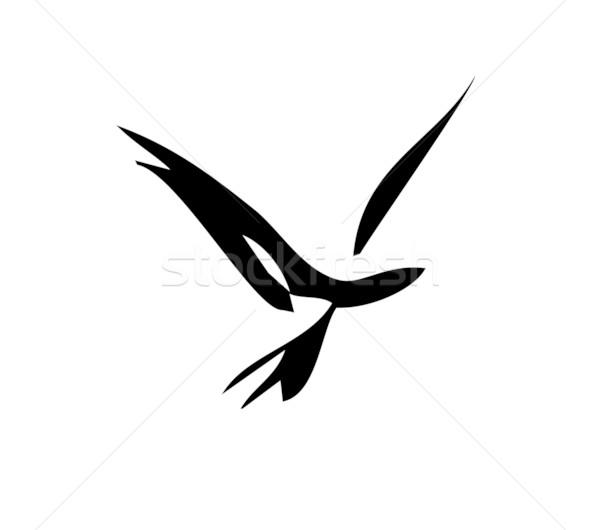 飛行 単純な ベクトル 画像 鳥 ストックフォト © xochicalco