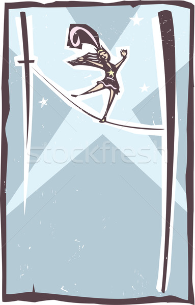 Tightrope Walker Spotlight Stock photo © xochicalco