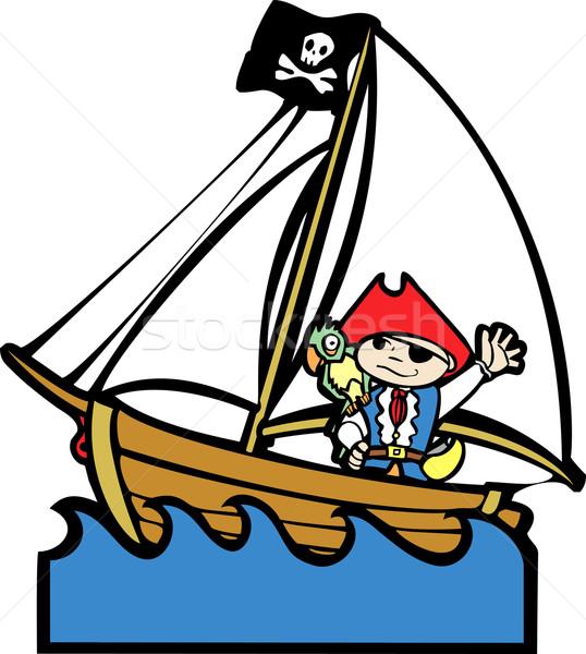 пиратских лодка мальчика простой изображение костюм Сток-фото © xochicalco
