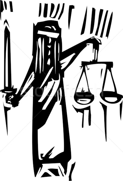 Justitie expressionistische stijl metafoor blinde Stockfoto © xochicalco