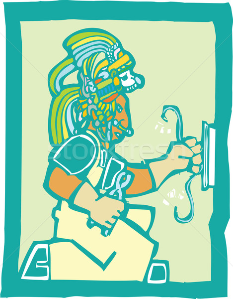 Mayan Electrician  Stock photo © xochicalco