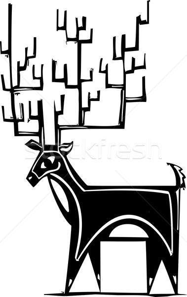Antlers Reindeer Stock photo © xochicalco