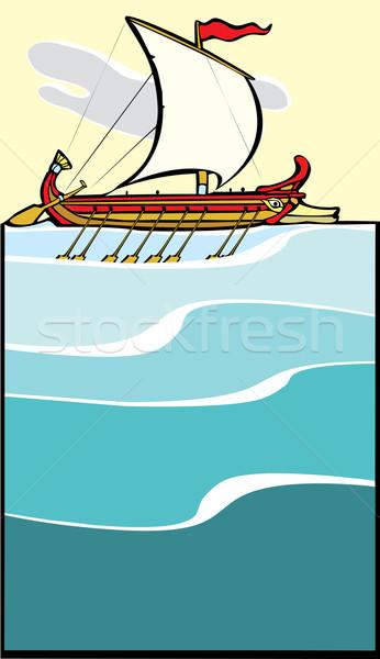 Greek Warship Stock photo © xochicalco