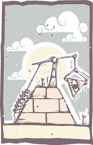 Masonic Pyramid Construction B Stock photo © xochicalco