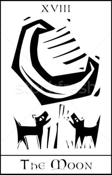 月 タロット 表現派の スタイル カード 空 ストックフォト © xochicalco