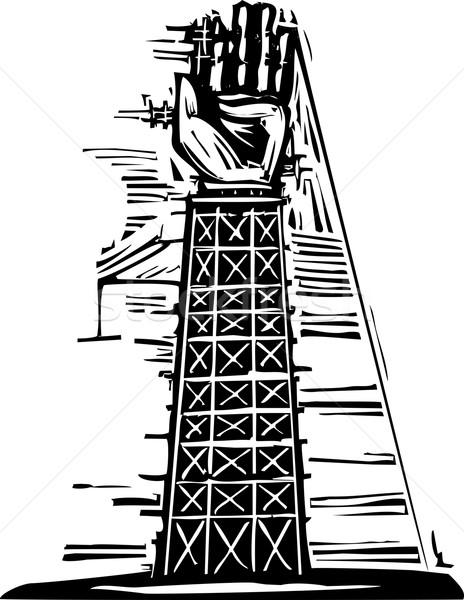 Hand Tower Stock photo © xochicalco