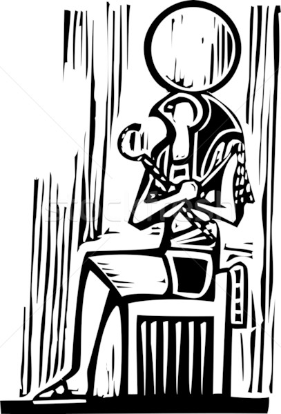 Stock photo: Egyptian Sitting Osiris